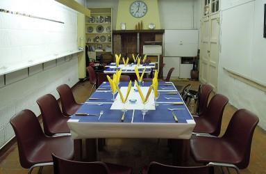 De mooi gedekte tafels